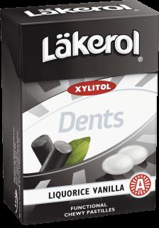 Läkerol Dents Liquorice Vanilla 85g