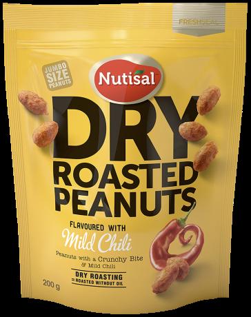 Nutisal Dry Roasted Peanuts Mild Chili 200g