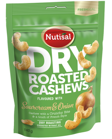 Nutisal Dry Roasted Cashew Sourcream 140g