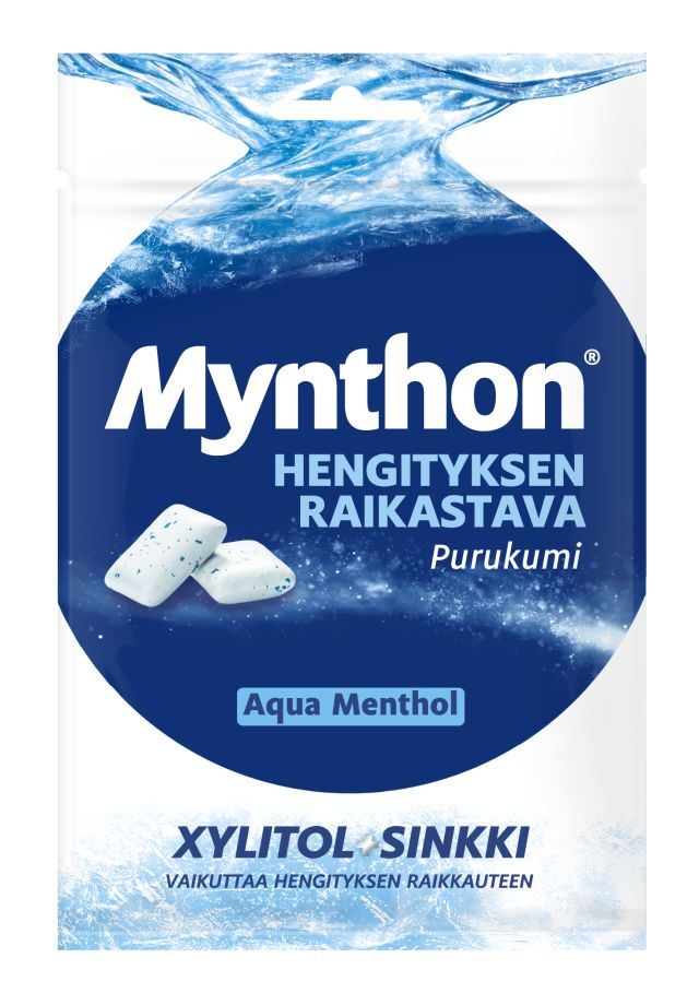 Mynthon Fresh Breath Aqua Menthol purukumi 44g