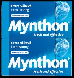 Mynthon Extra Väkevä Sokeriton 4-pack 140g