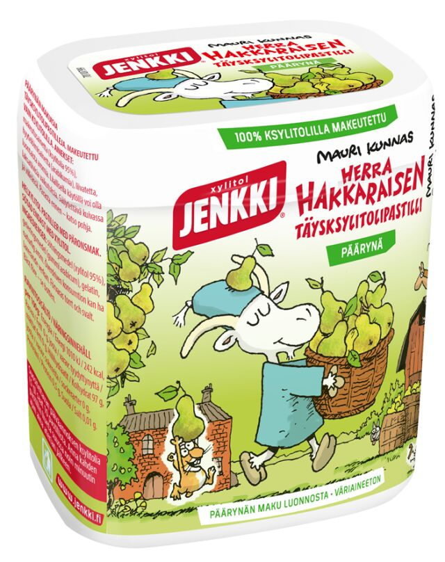 Jenkki Herra Hakkaraisen täysksylitolipastilli päärynä 55g