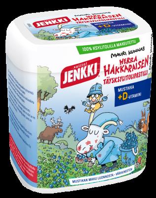 Jenkki Herra Hakkaraisen täysksylitolipastilli Mustikka+D 45g