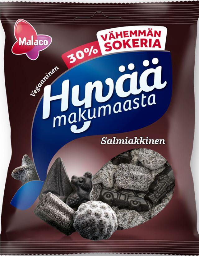 Hyvää Makumaasta 30% vähemmän sokeria salmiakkinen