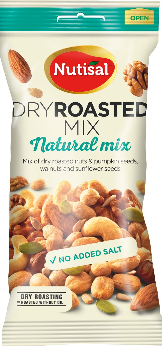 Nutisal Dry Roasted Natrural Mix 60g