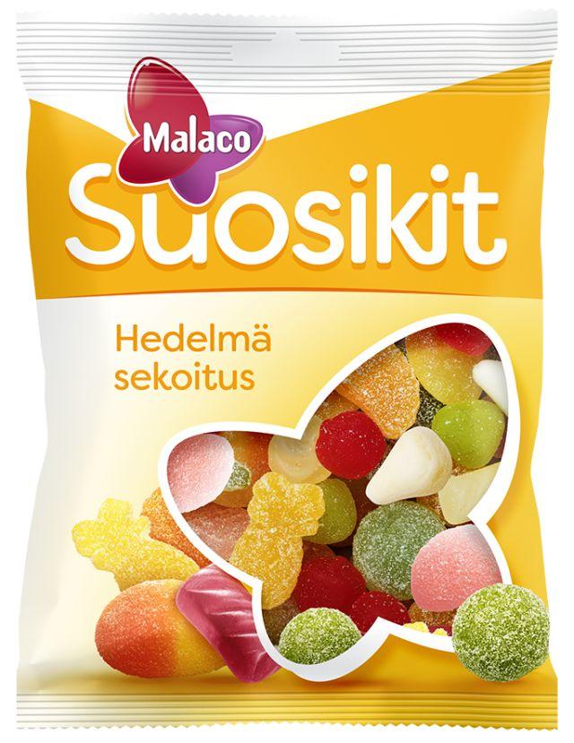Malaco Suosikit hedelmäsekoitus 230g