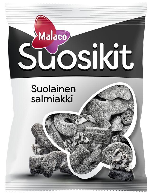 Malaco Suosikit suolainen salmiakki